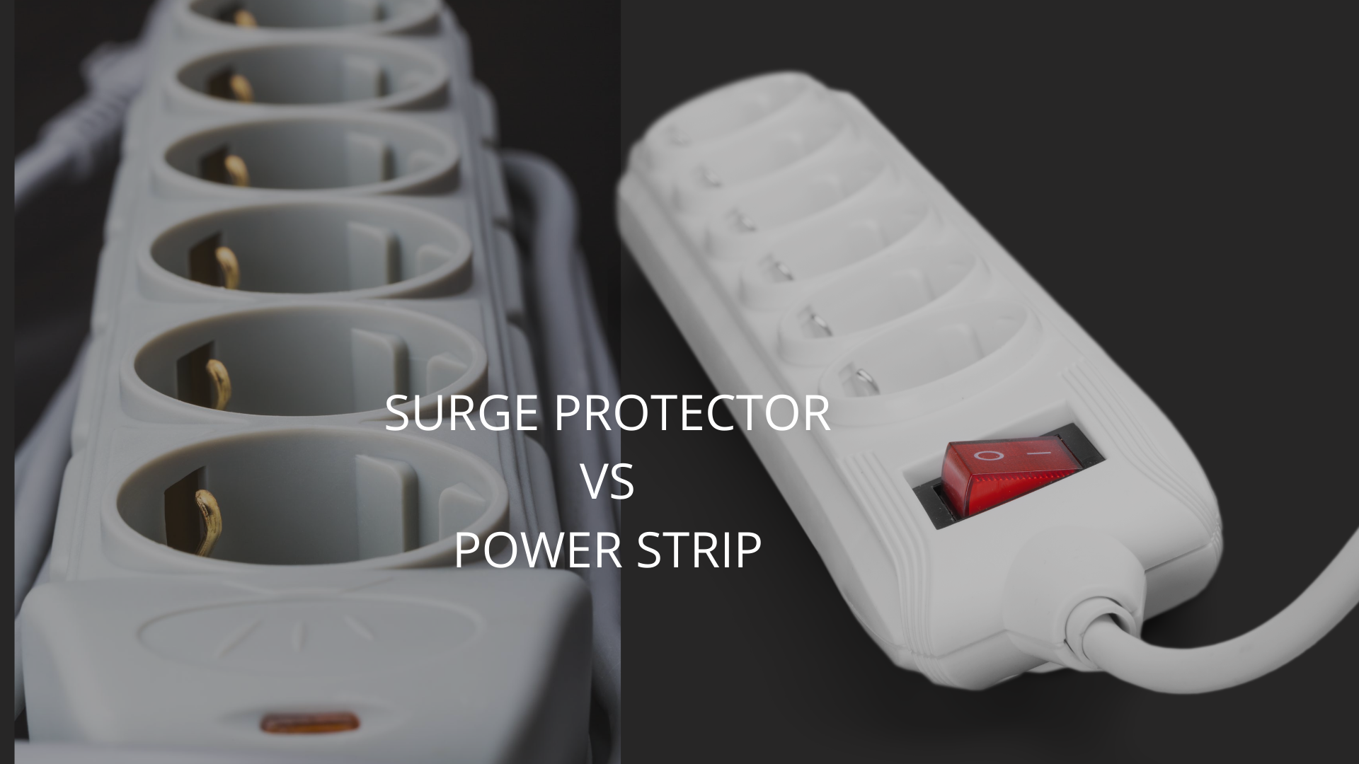 difference between a surge protector and power strip
