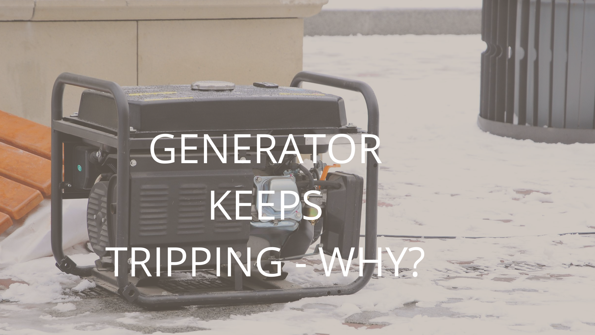 causes of generator tripping off