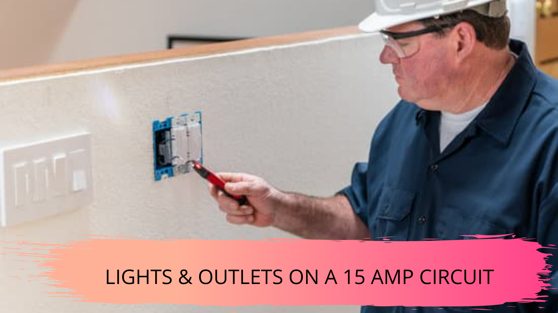 lights and outlets on a 15 amp receptacles