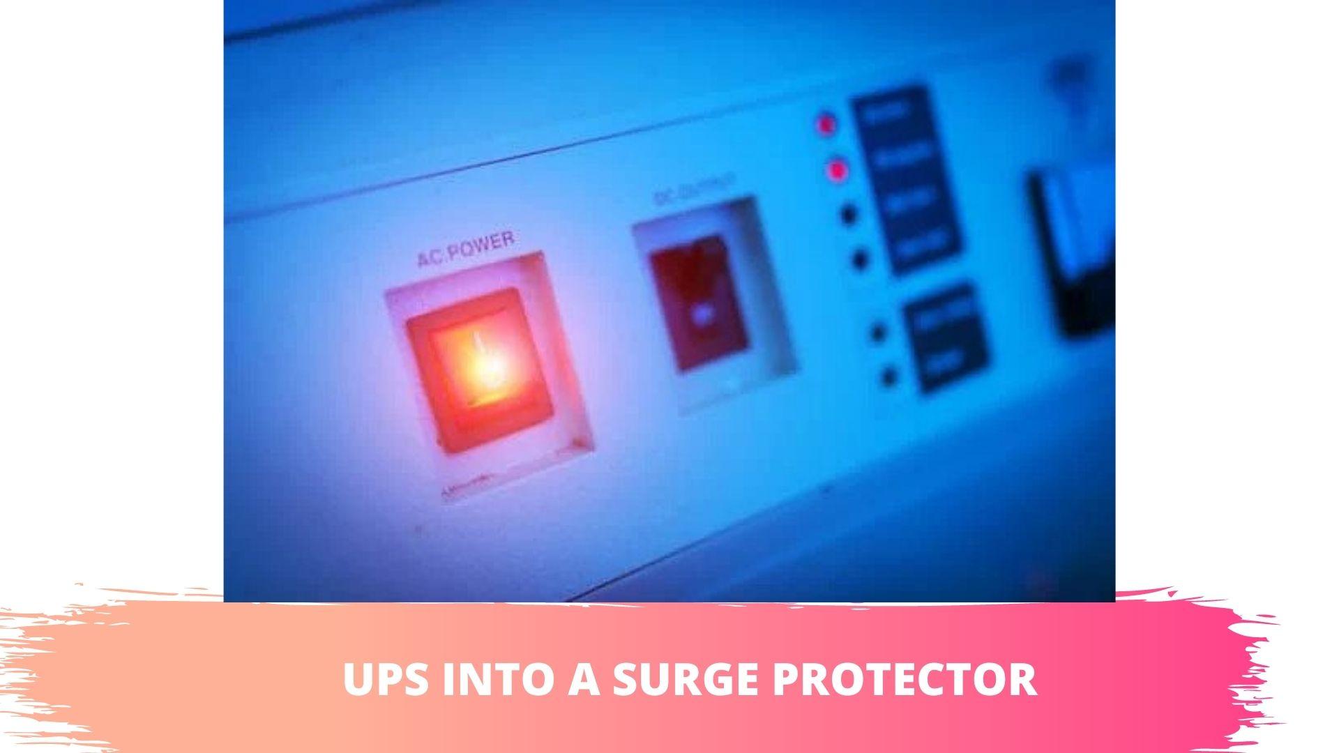 apc ups plugged in
