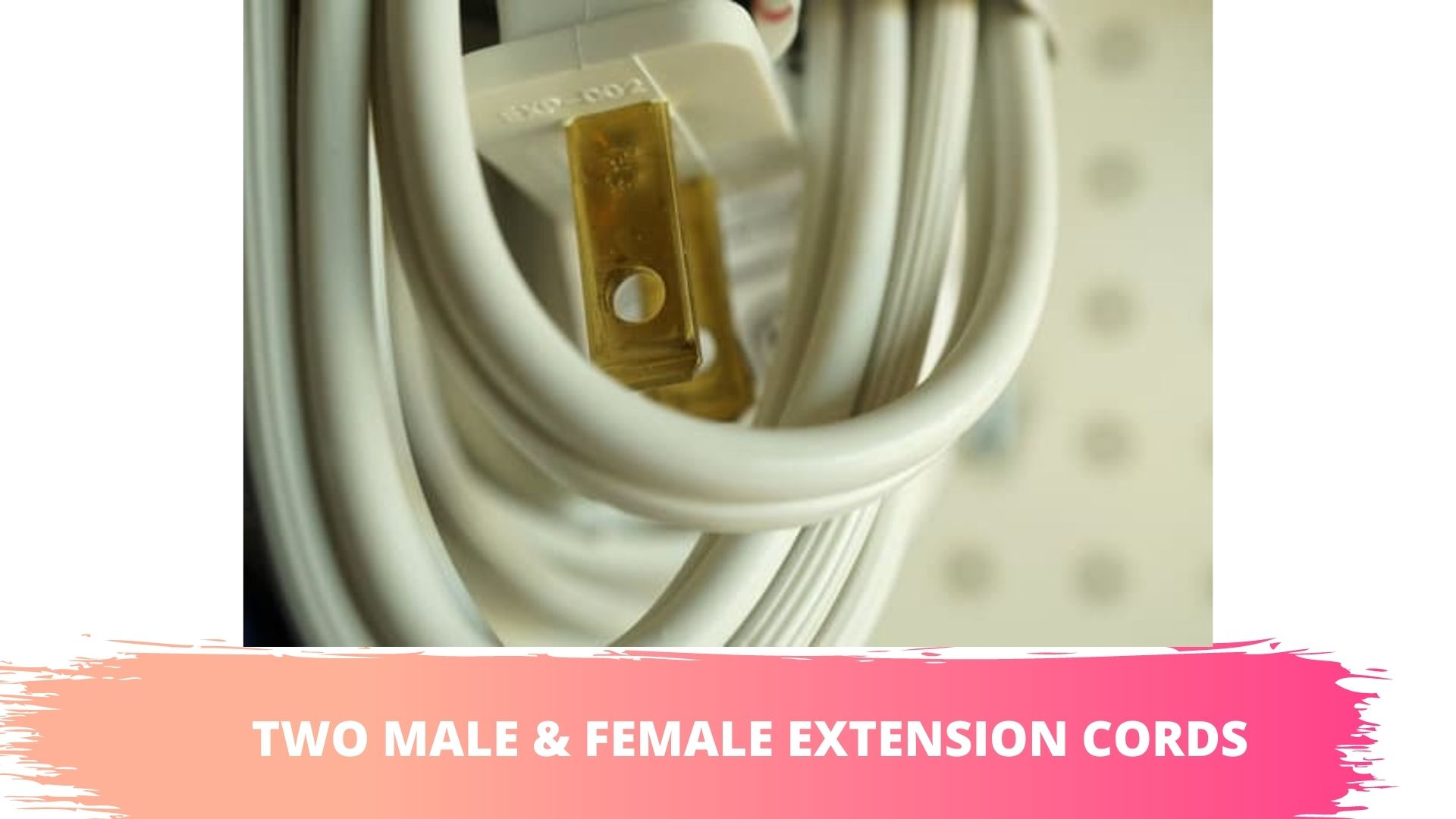 double male extension cord