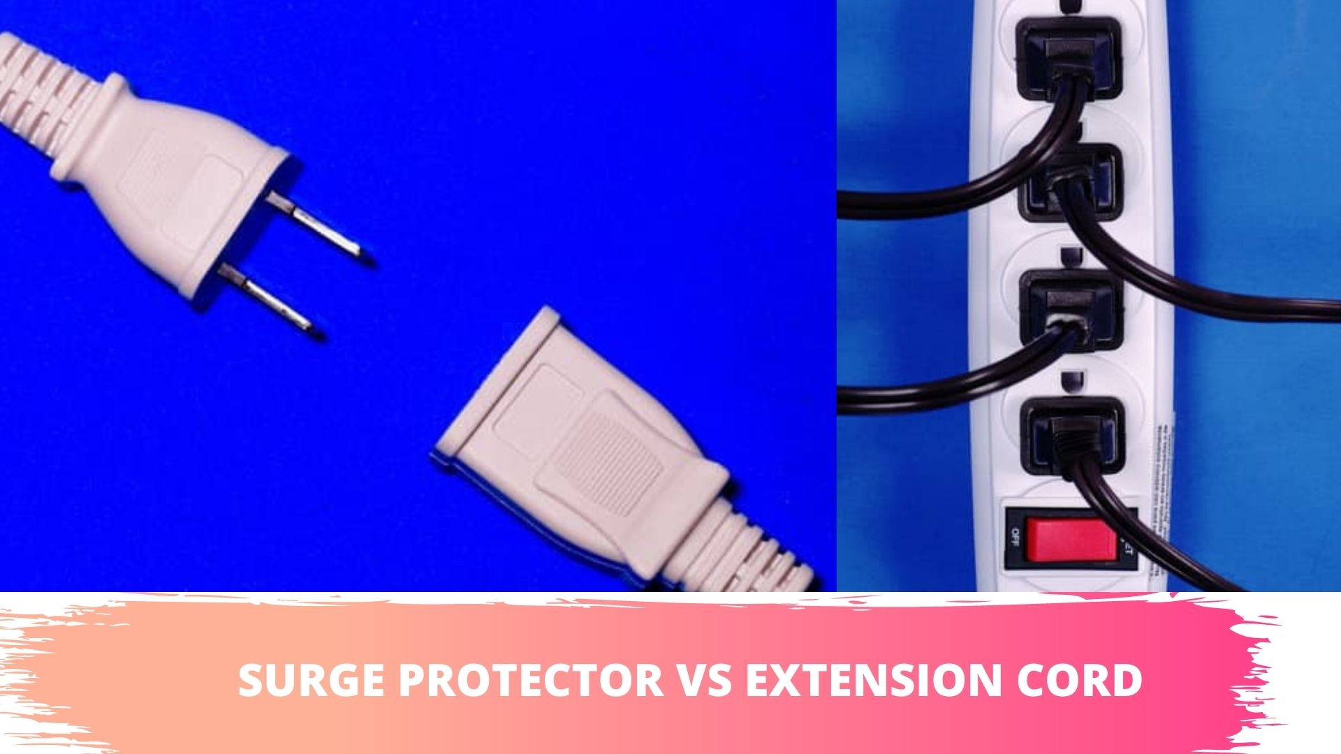 extension cord is different than surge protector