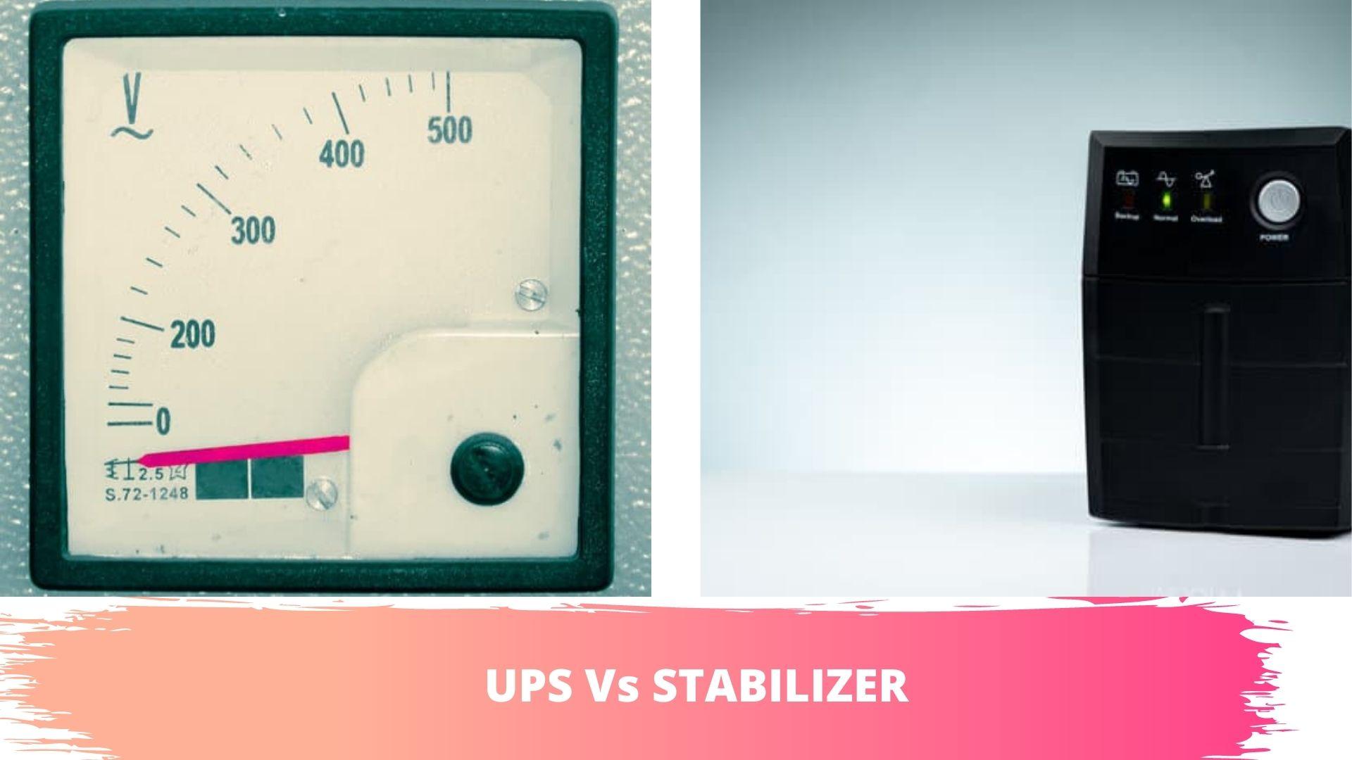 stabilizer vs ups