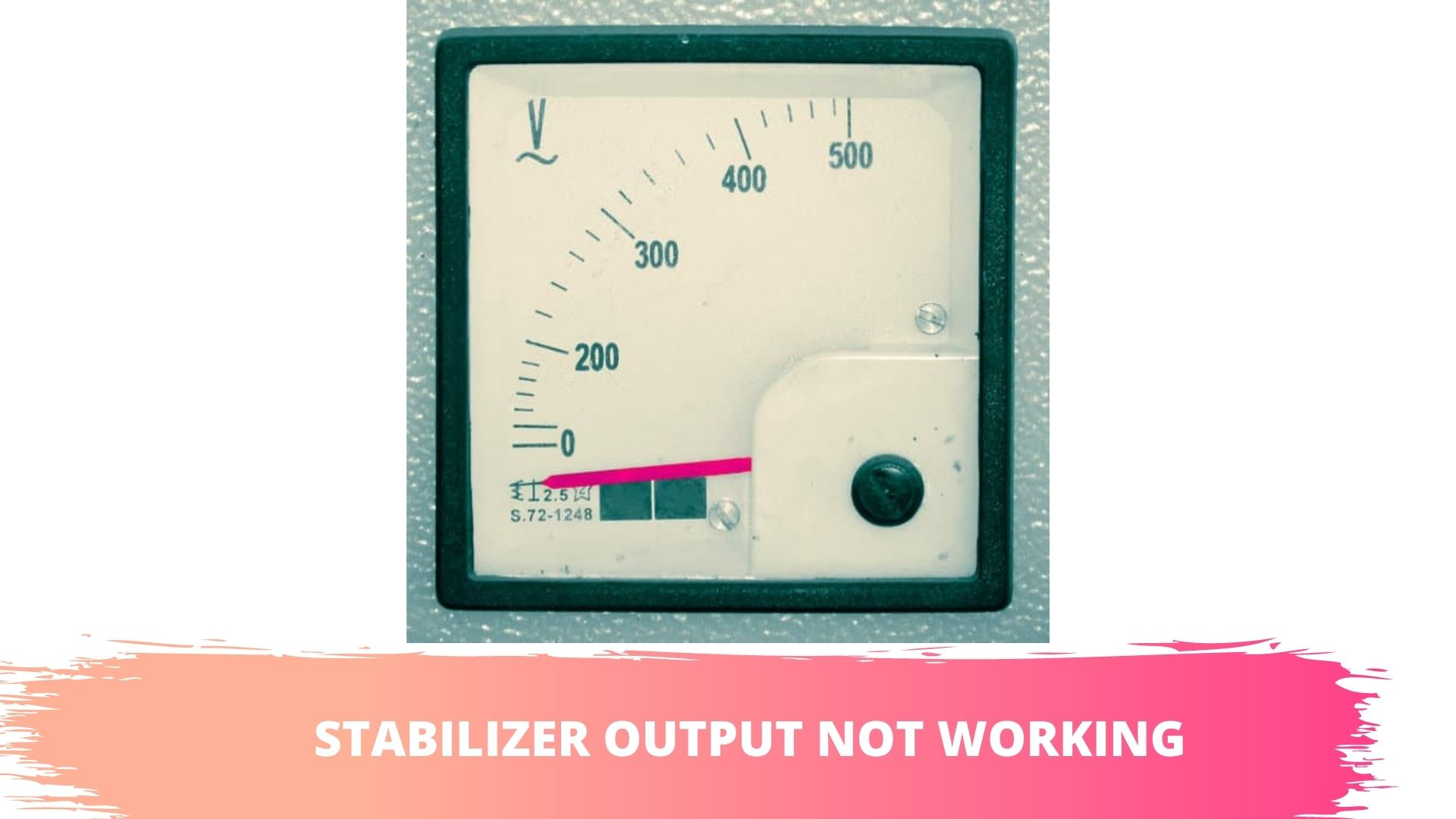 stabilizer output not working