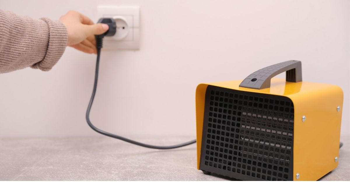 space heater plug gets hot